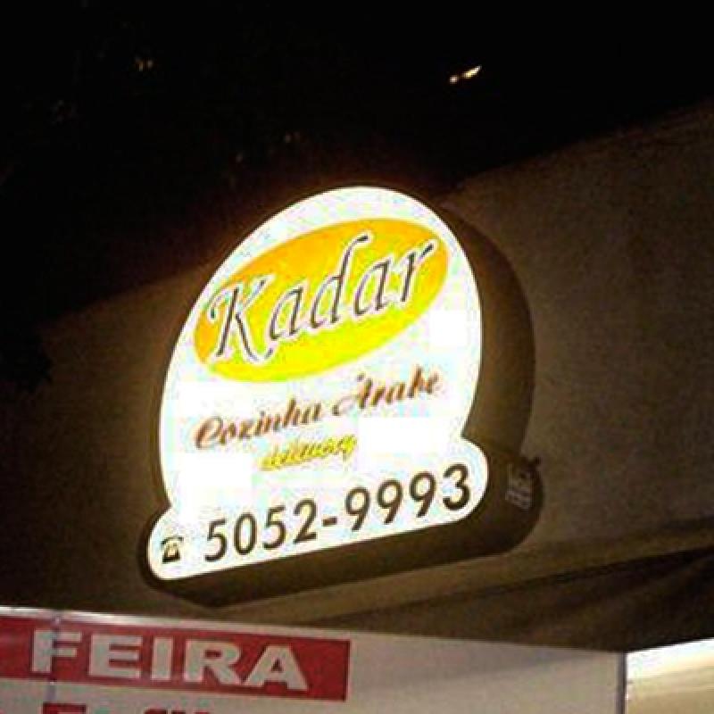 Onde Faz Placas Luminosas em Lona Vila Nova Conceição - Placas Luminosas Restaurante