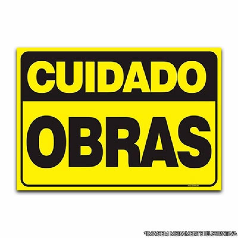 Orçar Placa Informativa de Obra Vila Clementino - Placas Informativas para Restaurantes