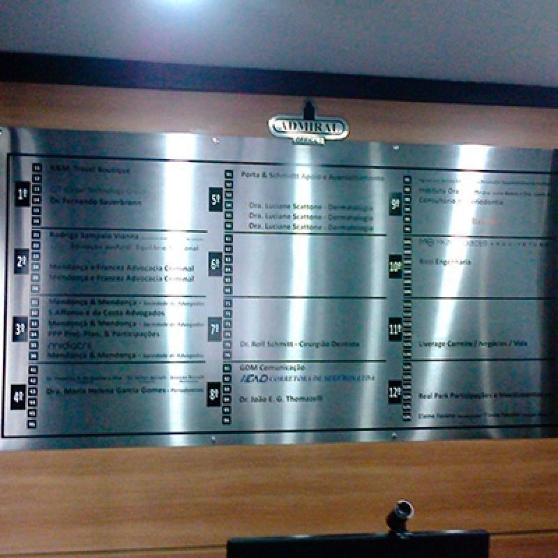 Placas Informativas para Restaurantes Santo Amaro - Placas Informativas para Condomínio