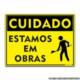 comprar placa informativa de obra Campo Belo