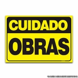 orçar placa informativa de obra Chácara Santo Antônio