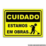 orçar placa informativa para indústria Campo Grande