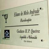 orçar placas informativas para condomínio Campo Belo