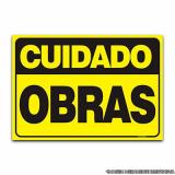 placa informativa para indústrias Jardim Paulistano