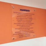 placas informativas empresas orçar Campo Belo